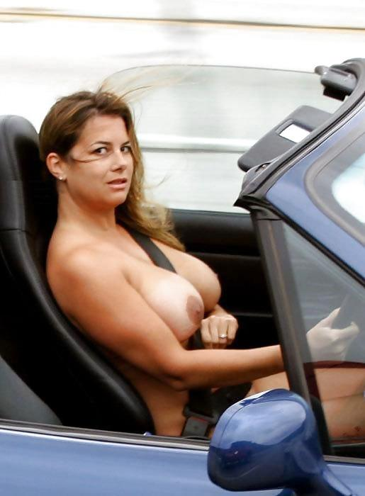 Women driving in the nude