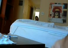 Caught jerking by mexican hotel maid flash