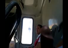 Dickflash for Teen on bus