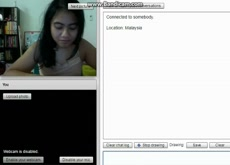 malaisian girl shocked for my cum