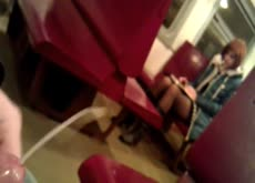 Cum for Redhead on Subway Train Dickflash