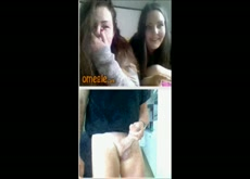 Flashing 2 omegle girls