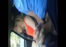 Flashing Blonde Hitchhiker