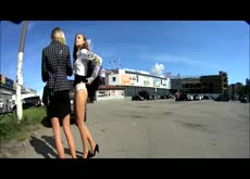Forced Upskirt Public Sharking Panty Flash 1