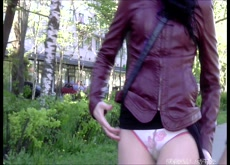 Forced Upskirt Public Sharking Panty Flash 3