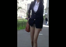 Forced Upskirt Public Sharking Panty Flash 4