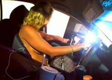 Blonde MILF McDonalds Drive Thru Webcam Dare