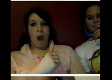 2 girls shocked and amazed