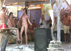 Drunk nudist
