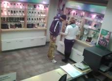 was caught on hidden camera