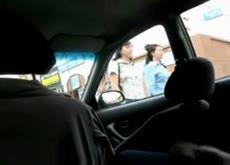 Wanking in car