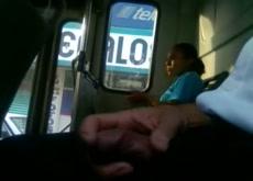 Bus Flash Public Masturbation