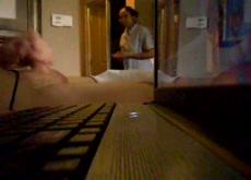 Caught masturbating by hotel maid