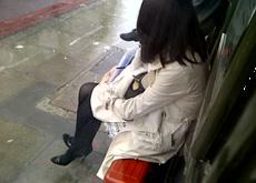 Bus Stop Flash Masturbating Outdoor Public
