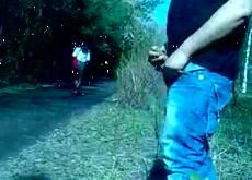 Outdoor Flashing Public Masturabtion