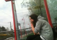 Bus Stop Flashing Outdoor Exhibitionist
