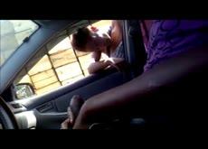 Car Flash Public Handjob Masturbating