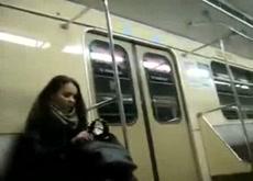 Subway Flashing Public Exhibitionist