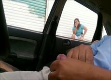 Car Dick Flash Public Exhibitionist Masturbation