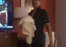 Caught Masterbating by Hotel Maid