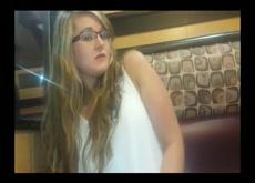 Hottie Rides Her Dildo in McDonalds!!