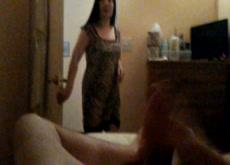 Flashing the Massage Lady!!