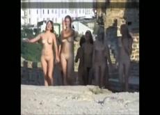 Euro Teen Nudist Club on a Historic Hike