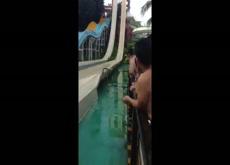 Chinese Girl Waterslide Oops