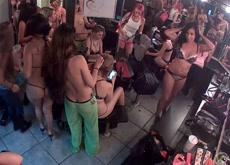 Hidden Cam in Hot Las Vegas Strip Club Dressing Room