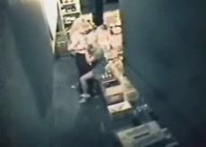 Security Cam Catches Storage Room Lesbians