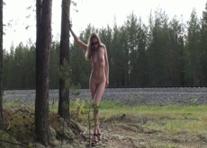 Wife Tied Nude to Tree as Train Passes