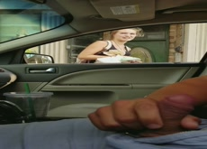 Car Flash Directions Blonde Teen