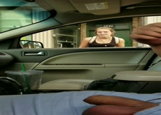 Car Flash Directions Blonde Teen 2