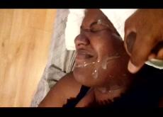 Housekeeper facial Cum