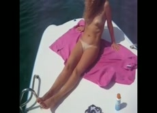 Girlfriend naked on boat