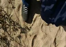 Cum on teen on the beach