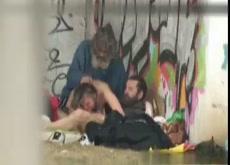 Voyeur Catches a Homeless Threesome