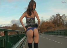 Stripping By Side Of The Road