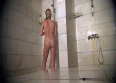 Long Hidden Cam Shower Room