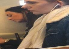 Sexy girls in train get a big D jerk