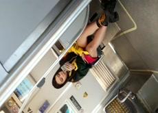 Dick flashing hot asian girl on metro