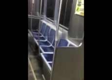 Guy Cums on Sleeping Train Girl