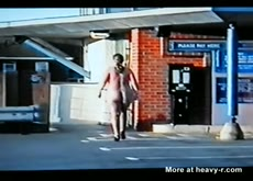 Fat ugly girl walking naked