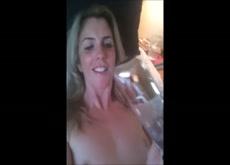 Blonde Bottle Fucks Herself
