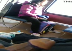 Flash Asian on Bus