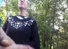 Granny Grabs Dick Flash