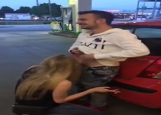 Gas Stop Blowjob