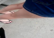 Cum on Asian Teens Bare Leg