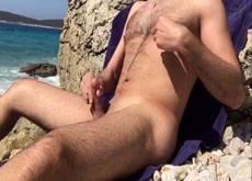 Just another wank at Public non nude beach