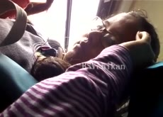 Touch Dick on Teen on Bus